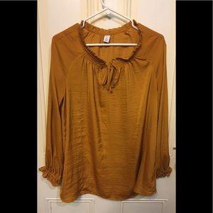 Old Navy l Mustard Long Sleeve Blouse